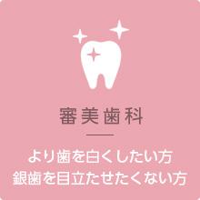 審美歯科 より歯を美しくしたい方 銀歯を目立たせたくない方